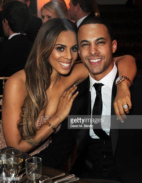 Rochelle Humes and Marvin Humes attend the BBC Children in Need Gala hosted by Gary Barlow at The Grosvenor House Hotel on November 11 2013 in London...
