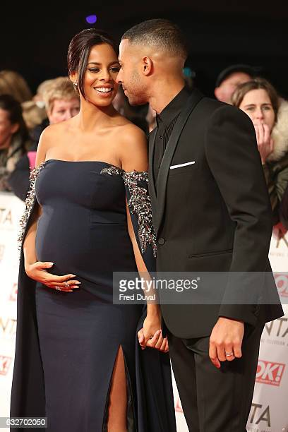 Rochelle Humes and Marvin Humes attend the National Television Awards at The O2 Arena on January 25 2017 in London England