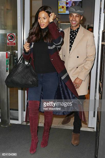 Rochelle Humes and Marvin Humes seen at BBC Radio 2 on November 18 2016 in London England