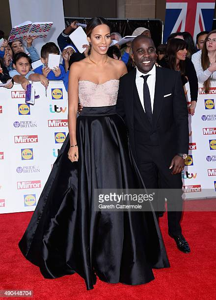Rochelle Humes and Melvin Odoom attend the Pride of Britain awards at The Grosvenor House Hotel on September 28 2015 in London England