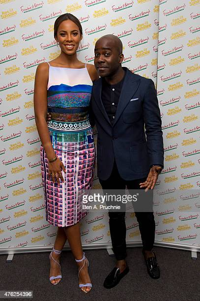 Rochelle Humes and Melvin Odoom attends the Frankie and Benny's Rays of Sunshine Concert at the Royal Albert Hall on June 7 2015 in London England