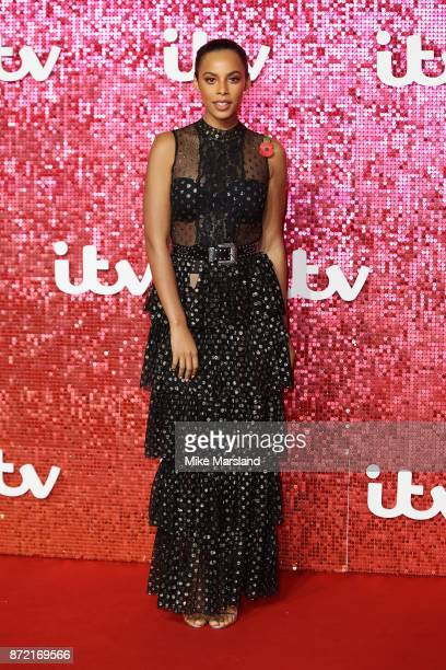Rochelle Humes arrives at the ITV Gala held at the London Palladium on November 9 2017 in London England