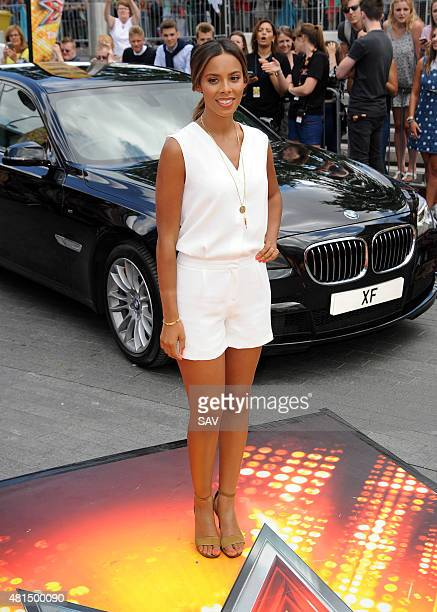 Rochelle Humes arrives at The X Factor Auditions at Wembley on July 21 2015 in London England