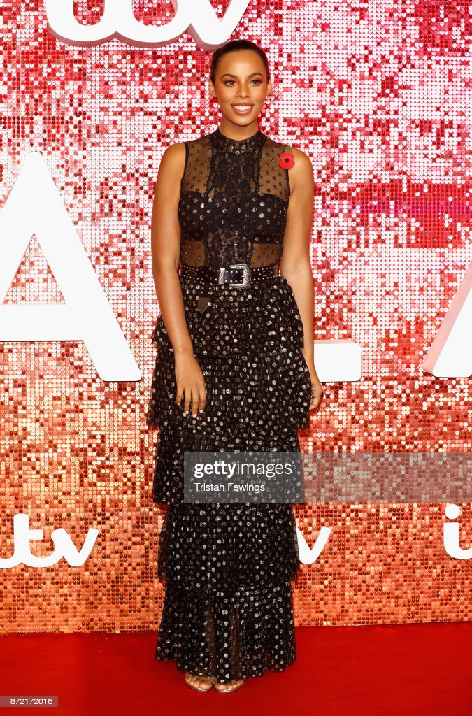 Rochelle Humes arriving at the ITV Gala held at the London Palladium on November 9, 2017 in London, England.