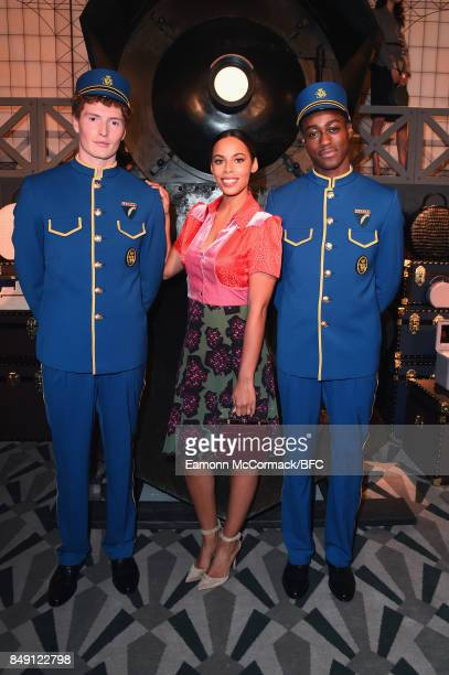 Rochelle Humes attends the Aspinal of London presentation during London Fashion Week September 2017 on September 18 2017 in London England