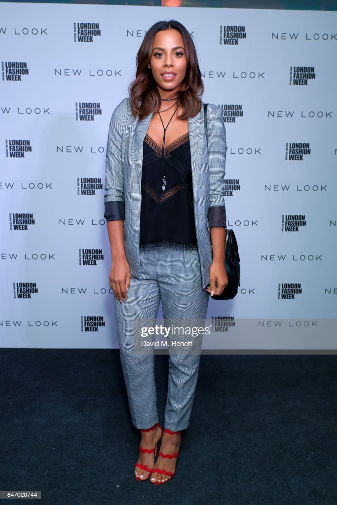 Rochelle Humes attends the exclusive New Look and British Fashion Council party launching London Fashion Week September 2017 at The Store Studios on September 14, 2017 in London, England.