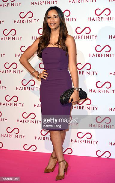 Rochelle Humes attends the Hairfinity UK Launch Party on November 8 2014 in London England