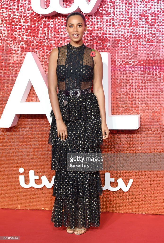 Rochelle Humes attends the ITV Gala at the London Palladium on November 9, 2017 in London, England.
