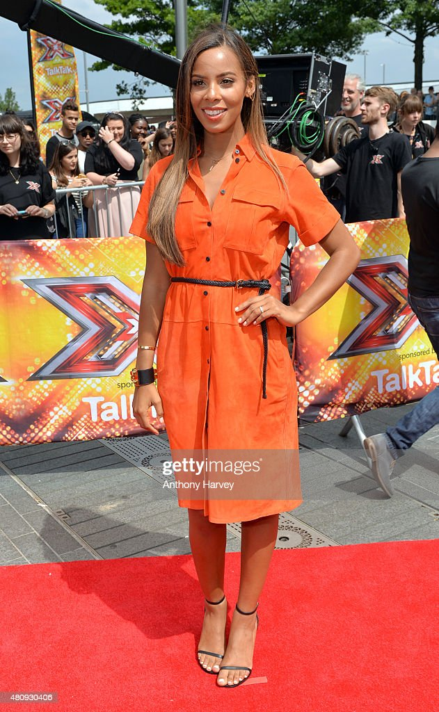 Rochelle Humes attends the London auditions of The X Factor at SSE Arena on July 16, 2015 in London, England.
