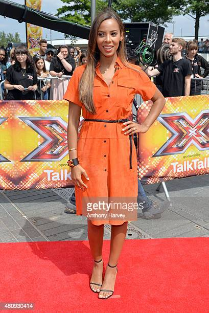 Rochelle Humes attends the London auditions of The X Factor at SSE Arena on July 16 2015 in London England