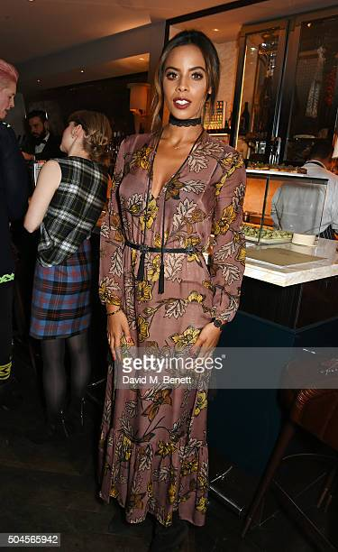 Rochelle Humes attends the London Collections Men AW16 closing dinner hosted by GQ editor Dylan Jones and LCM Ambassadors at Sartoria on January 11...