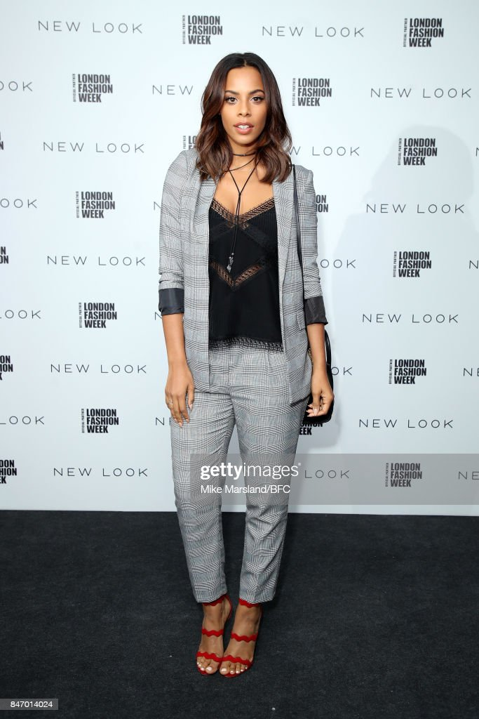Rochelle Humes attends the New Look and the British Fashion Council LFW Launch Party during London Fashion Week September 2017 on September 14, 2017 in London, England.