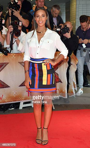 Rochelle Humes attends the press launch of 'The X Factor' at the Picturehouse Central on August 26 2015 in London England