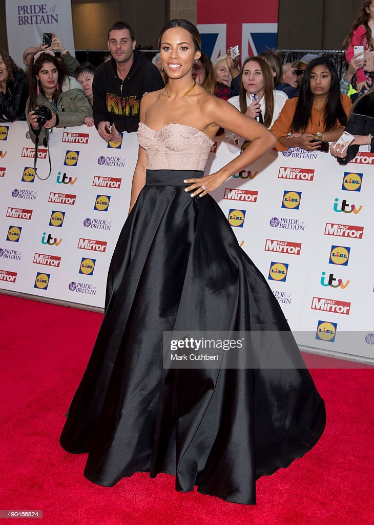 Rochelle Humes attends the Pride of Britain awards at The Grosvenor House Hotel on September 28, 2015 in London, England.