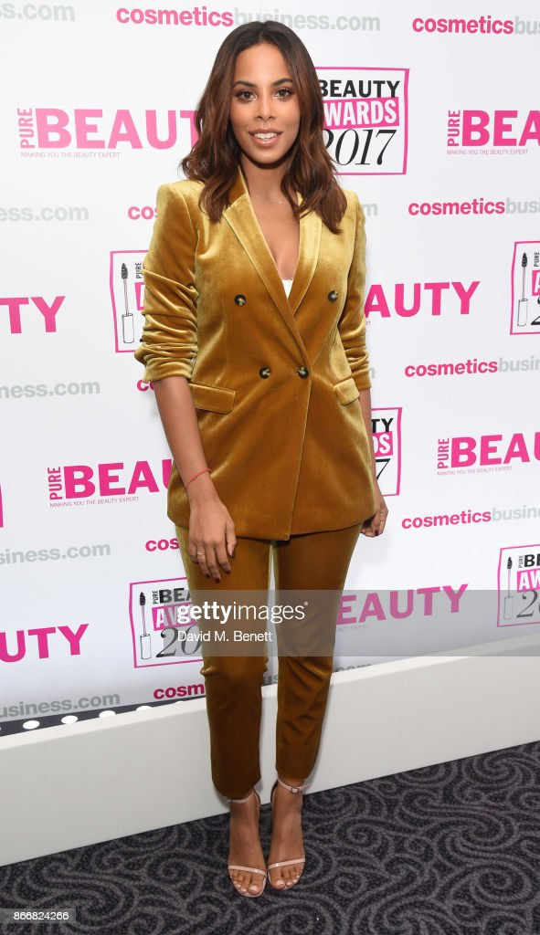Rochelle Humes attends the Pure Beauty Awards 2017 at The Savoy Hotel on October 26, 2017 in London, England.