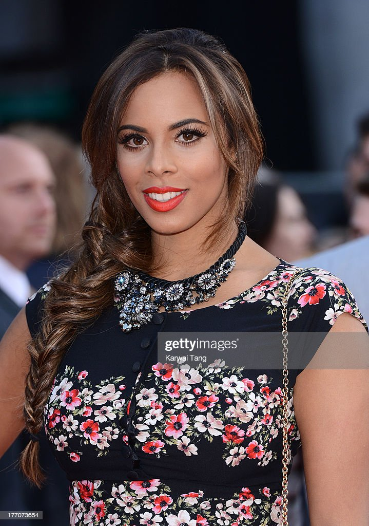 Rochelle Humes attends the World Premiere of 'One Direction: This Is Us' at Empire Leicester Square on August 20, 2013 in London, England.