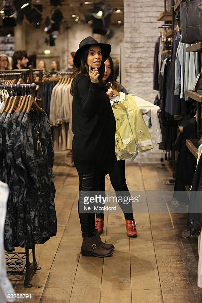 Rochelle Humes is sighted shopping at All Saints on March 7 2013 in London England
