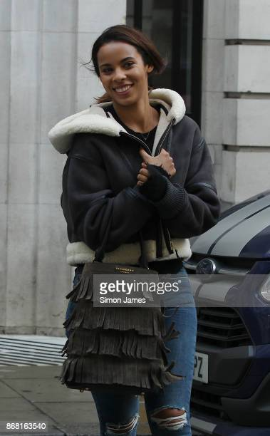 Rochelle Humes seen at the BBC on October 30 2017 in London England