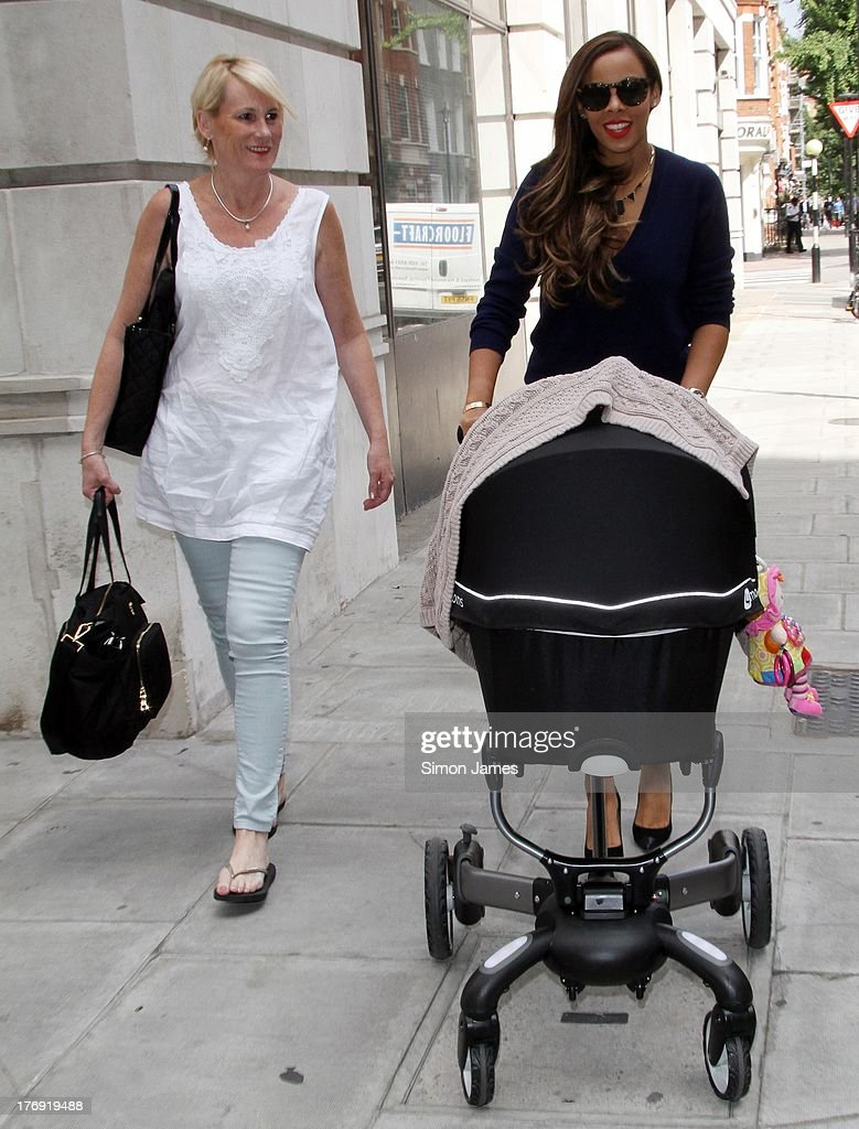 Rochelle Humes sighting at BBC radio one on August 19, 2013 in London, England.