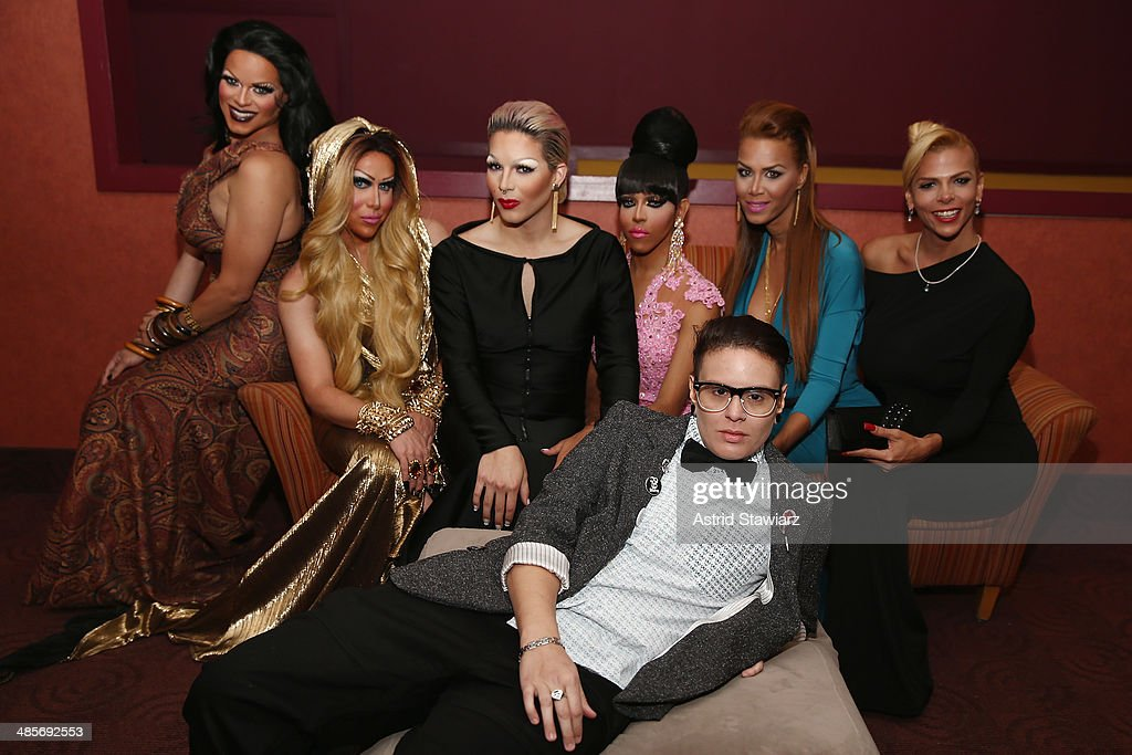 Rochelle Mon Chéri Zahara Montiere April Carrion Paxx Moll Queen Bee Ho Ivana Fred and Sandy Alvarado attend the 'Mala Mala' Premiere during the 2014...