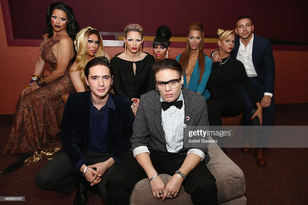 Rochelle Mon Chéri, Zahara Montiere, Dan Sickles, April Carrion, Paxx Moll, Queen Bee Ho, Ivana Fred, Sandy Alvarado, and Antonio Santini attend the 'Mala Mala' Premiere during the 2014 Tribeca Film Festival at Chelsea Bow Tie Cinemas on April 19, 2014 in New York City.