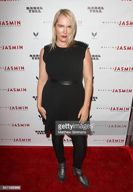 Rochelle Vincente Von K attends JASMIN's LA Art Show on July 14 2016 in Los Angeles California