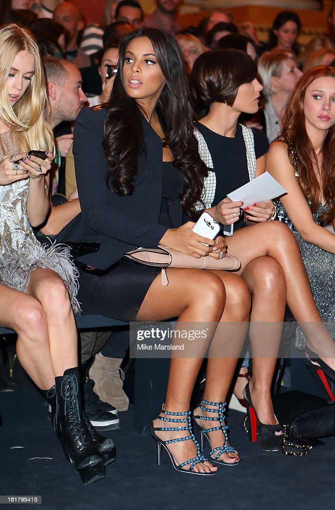 Rochelle Wiseman attends the Julien Macdonald show during London Fashion Week Fall/Winter 2013/14 at Goldsmiths' Hall on February 16, 2013 in London, England.