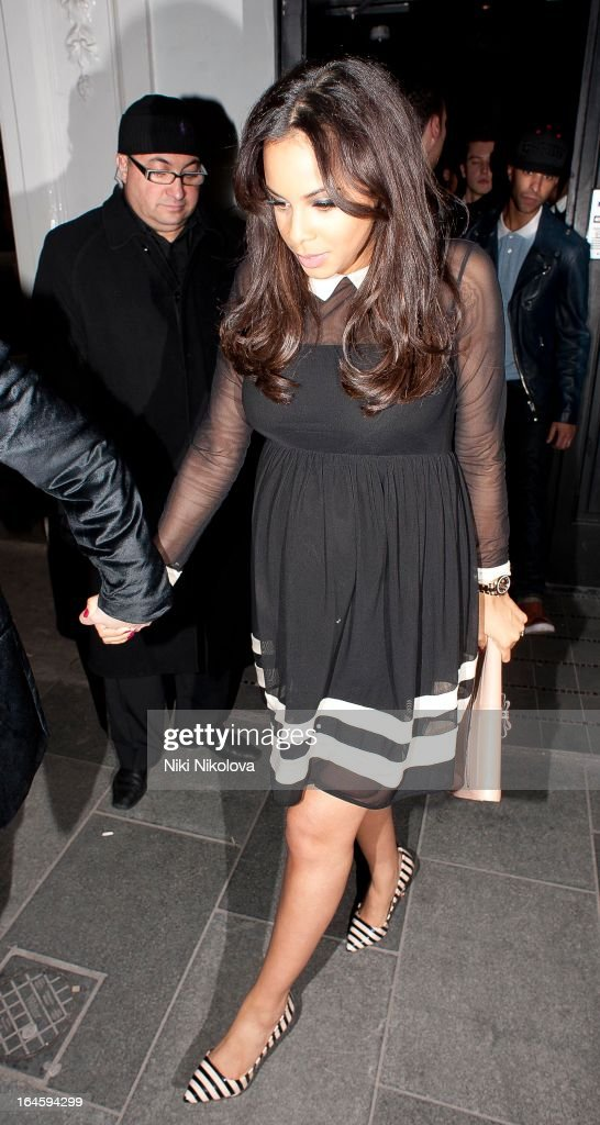 Rochelle Wiseman leaving Amika Club on March 24, 2013 in London, England.