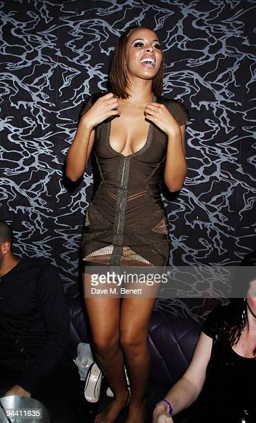 Rochelle Wiseman of The Saturdays attends the Fascination Record Label Xmas party at the Aura nightclub on December 122009 in LondonEngland