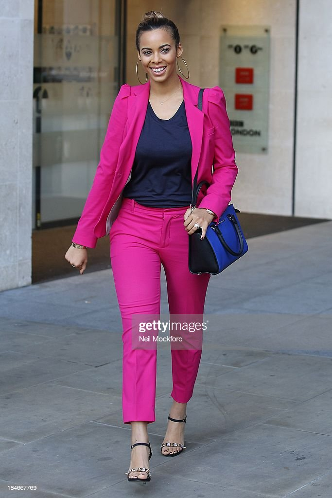 Rochelle Wiseman seen at BBC Radio One on October 15, 2013 in London, England.