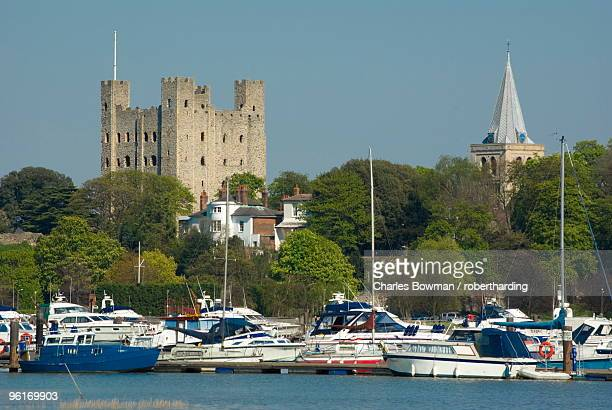 Rochester Castle and Cathedral, Rochester, Kent, England, United Kingdom, Europe