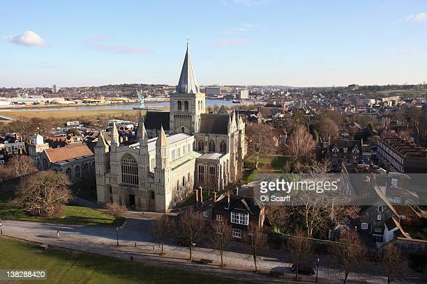 Rochester Cathedral which dates from 1080 and is believed to be the inspiration for locations in Charles Dickens' novels when he lived near the city...