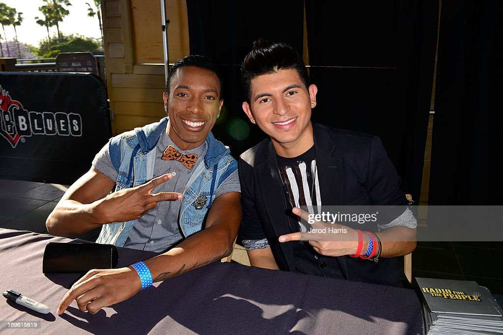 Rochone Anderson and Eric Alavez of Radio For The People attends the American Icon Music Tour at House Of Blues on May 28, 2013 in Anaheim, California.