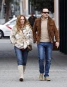 Rocio Carrasco and Fidel Albiac are seen on February 17 2013 in Madrid Spain
