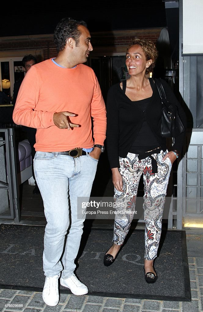 Rocio Carrasco and Fidel Albiac are seen on May 20 2015 in Madrid Spain