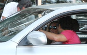 Rocio Carrasco and Fidel Albiac are seen on May 28 2013 in Madrid Spain