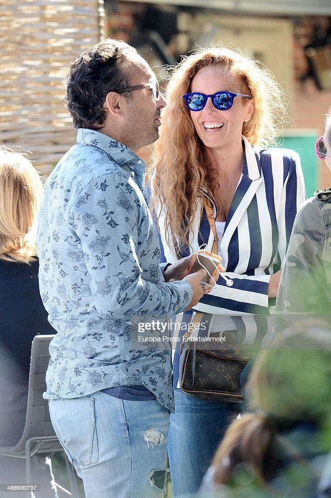 Rocio Carrasco and Fidel Albiac are seen on May 8 2014 in Madrid Spain