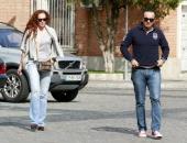 Rocio Carrasco and Fidel Albiac are seen on October 21 2013 in Madrid Spain