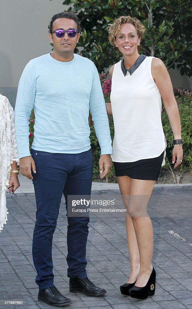 Rocio Carrasco and Fidel Albiac attend Maria Teresa Campos's 74th birthday on June 18 2015 in Madrid Spain