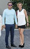 Rocio Carrasco and Fidel Albiac attend Maria Teresa Campos's 74th birthday on June 18 2015 in Madrid Spain