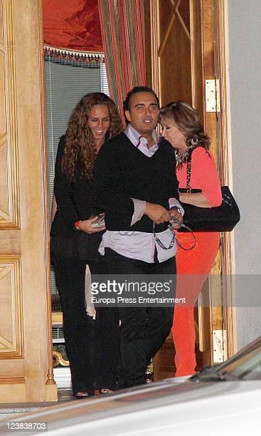 Rocio Carrasco Fidel Albiac and Mila Ximenez attend Spanish Tv presenter Terelu Campos birthday on September 3 2011 in Madrid Spain