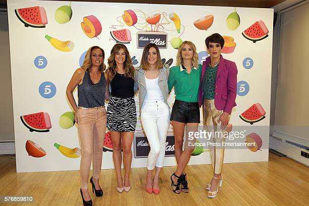 Rocio Carrasco Monica Martinez Sandra Barneda Alba Carrillo and Soledad Leon de Salazar attend 'Hable Con Ellas' Tv show presentation at Telecinco on...