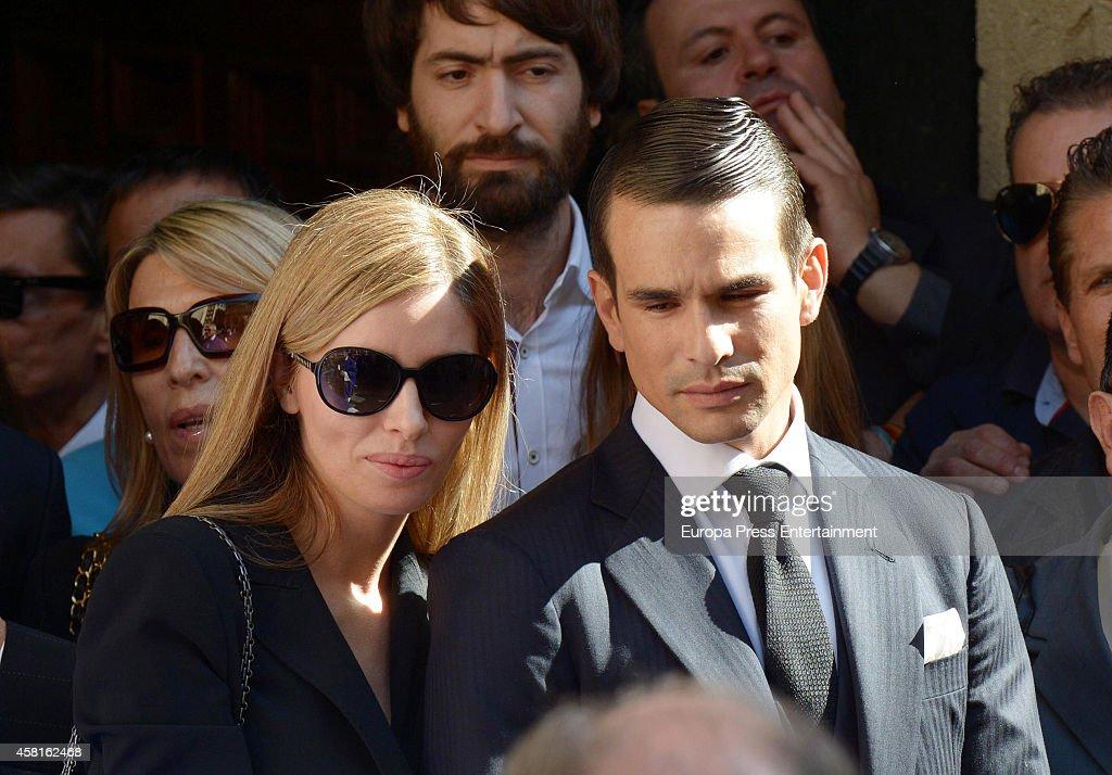 Rocio Escalona and Jose Maria Manzanares attend the funeral for the Spanish bullfighter Jose Maria Manzanares at Cathedral of San Nicolas on October 30, 2014 in Alicante, Spain.