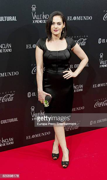 Rocio Munoz attends the ValleInclan Theatre Awards at Teatro Real on April 11 2016 in Madrid Spain