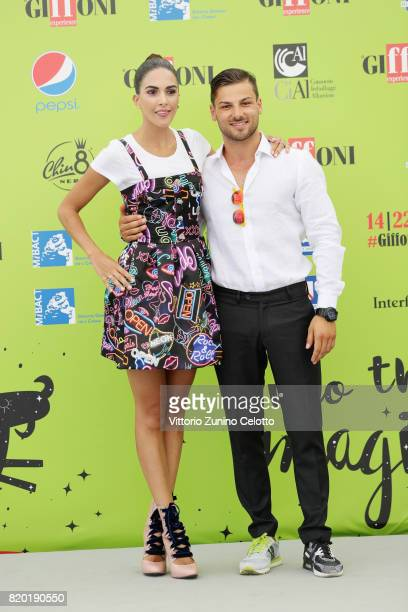 Rocio Munoz Morales and Giffoni Experience Strategic Manager Jacopo Gubitosi attend Giffoni Film Festival 2017 photocall on July 21 2017 in Giffoni...
