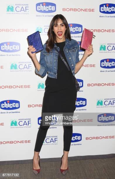 Rocio Munoz Morales attends 'Chicco Di Felicita' By Borbonese on May 3 2017 in Milan Italy