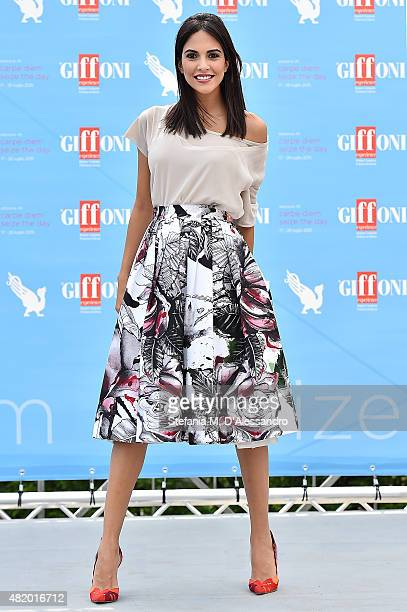 Rocio Munoz Morales attends Giffoni Film Festival 2015 Day 10 photocall on July 26 2015 in Giffoni Valle Piana Italy