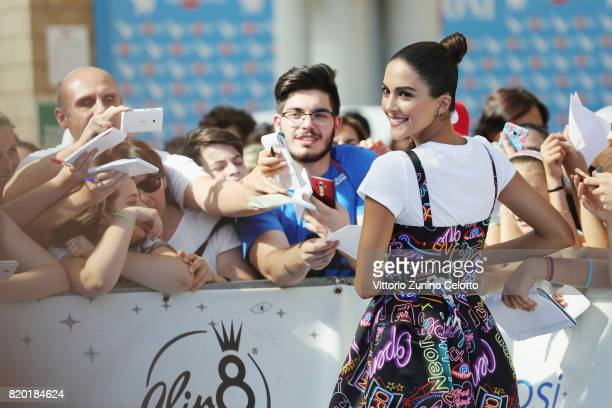 Rocio Munoz Morales attends Giffoni Film Festival 2017 blue carpet on July 21 2017 in Giffoni Valle Piana Italy