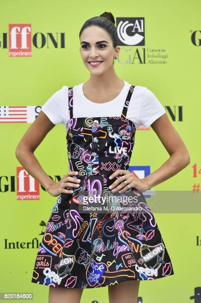 Rocio Munoz Morales attends Giffoni Film Festival 2017 Day 8 Photocall on July 21 2017 in Giffoni Valle Piana Italy