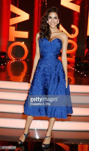 Rocio Munoz Morales attends PREMIO TV 2015 Awards at RAI Dear Studios on May 25 2015 in Rome Italy